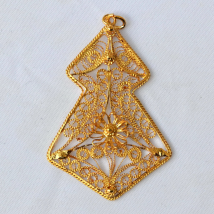 Silver Gilt Pendant Christmas Tree Shape