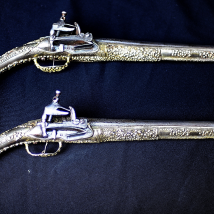 Pair of gilt-silver flintlock pistols Ledenica Zlatka type