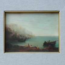 Painting Maritime Landscape 18th century