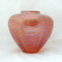 Iridescent Glass Vase Marked Rosenthal Classic Rose