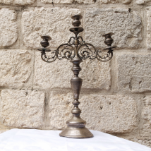 WMF Candlestick with Chiselled Decoration