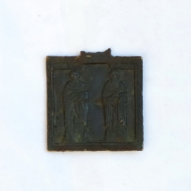 Russian Bronze Icon Two Selected Saints