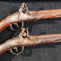 A pair of Ottoman flintlock holster pistols
