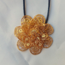Silver Gilt Pendant Large Flower