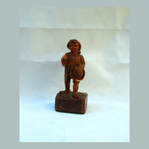 Wooden Figure of a Boy