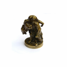 Bronze Figure of Two Wrestling Boys